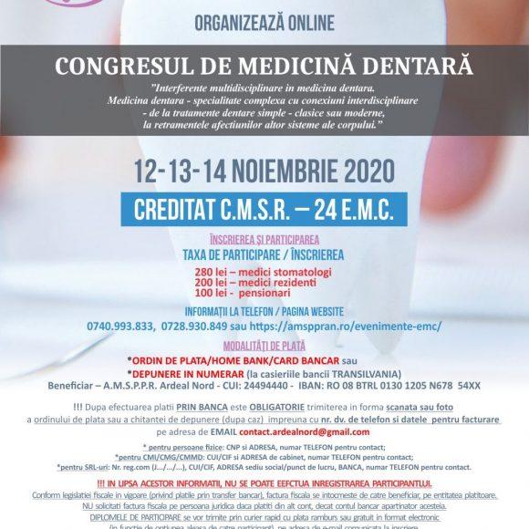 Congres de Medicina Dentara 12-13-14.11.2020
